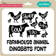 Farmhouse Animal Dingbats Font