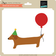 Wiener Dog with Balloon
