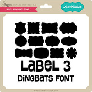 Label 3 Dingbats Font