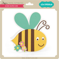A2 Bee Shaped Card