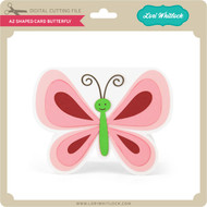 A2 Shaped Card Butterfly