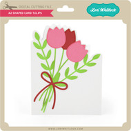 A2 Shaped Card Tulips