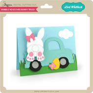 Bobble Head Card Bunny Truck