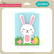 Bobble Head Card Easter Bunny