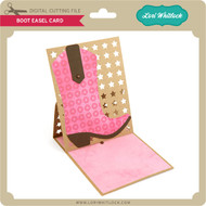 Boot Easel Card