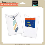 Shirt and Tie Gift Card Holder