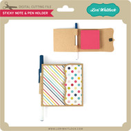 Sticky Note & Pen Holder