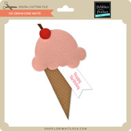 Ice Cream Cone Invite