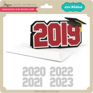 Graduation Year Shaped Card