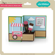 Pop Up Box Card Ice Cream Cart