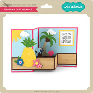 Pop Up Box Card Pineapple