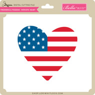 Fireworks & Freedom - Patriotic Heart