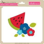 Fireworks & Freedom - Watermelon Slice