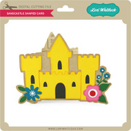 Sandcastle Shaped Card