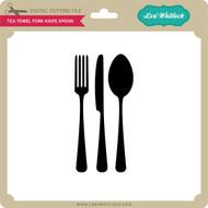 Tea Towel Fork Knife Spoon