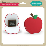 Pop Up Card Apple Teacher