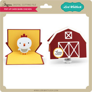 Pop Up Card Barn Chicken
