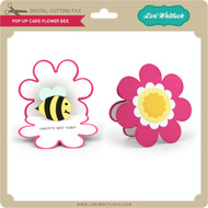 Pop Up Card Flower Bee