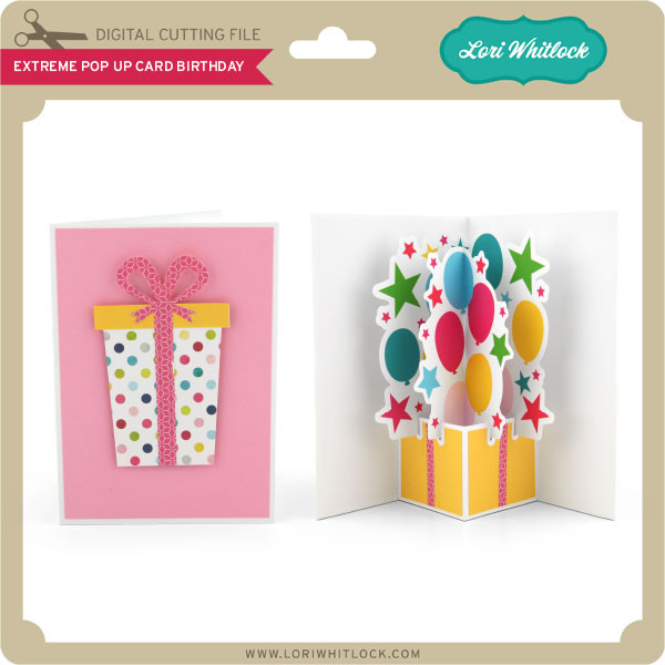 Superb Extreme Pop Up Card Birthday Lori Whitlocks Svg Shop Funny Birthday Cards Online Inifofree Goldxyz