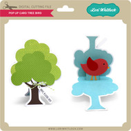 Pop Up Card Tree Bird