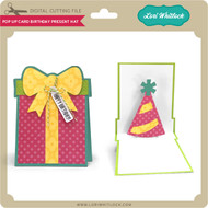 Pop Up Card Birthday Present Hat