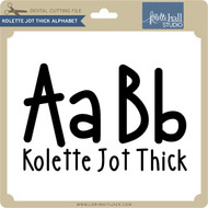 Kolette Jot Thick Alphabet