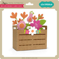 Box Card Wooden Flower Crate