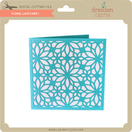 Floral Lace Card 1