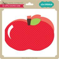 A2 Apple Shaped Card