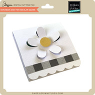 Matchbook Daisy for Chocolate Square