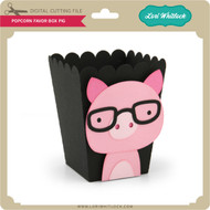 Popcorn Favor Box Pig