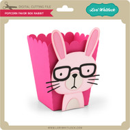 Popcorn Favor Box Rabbit