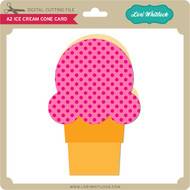 A2 Ice Cream Cone Card