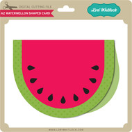 A2 Watermelon Shaped Card