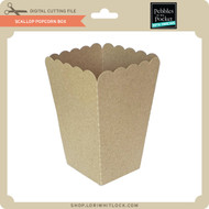 Scallop Popcorn Box