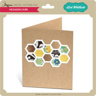 A2 Hexagon Shaped Card