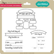First Day of School Sign Bundle