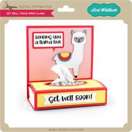 Get Well Tissue Wrap Llama