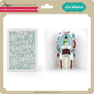 Extreme Pop Up Card Snowglobe Snowman