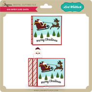 6x6 Wiper Card Christmas Santa