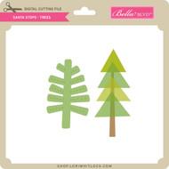 Santa Stops - Trees