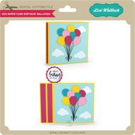 6x6 Wiper Card Birthday Balloons