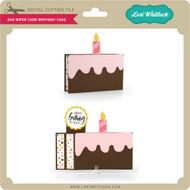 6x6 Wiper Card Birthday Cake