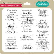 Thankful Family Phrase Bundle