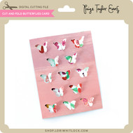 Cut and Fold Butterflies Card