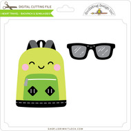 I Heart Travel - Backpack & Sunglasses