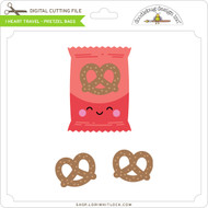 I Heart Travel - Pretzel Bags