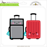 I Heart Travel - Standing Suitcase
