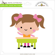 School Days - School Girl at Desk
