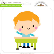 School Days - Schoolboy at Desk